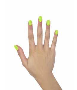 unghie per carnevale verde fluo lime semipermanente