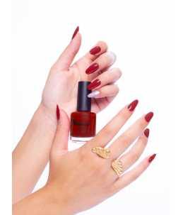 Unghie san valentino smalto rosso Lussuria