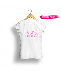 t shirt bianca cotone gamax training project