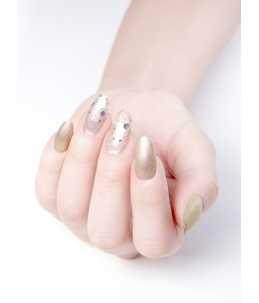 smalto semipermanente oro metallizzato mani