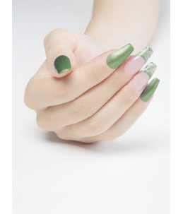 smalto semipermanente unghie effetto metallizzato verde