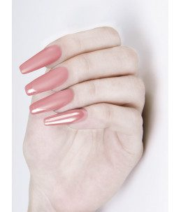 unghie rosa chantilly mani