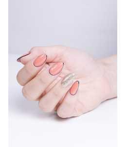 semipermanente professionale unghie rosa salmone