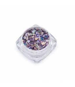 barattolo paillettes decorazione unghie lilla