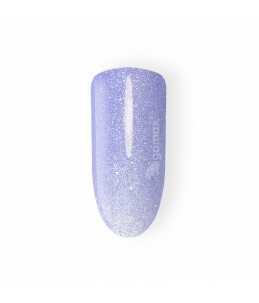 smalto semipermanente unghie azzurro glitter