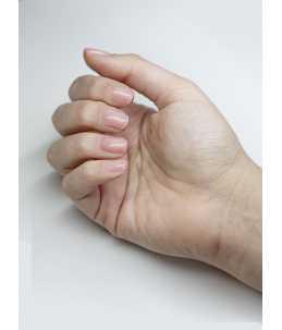 manicure base per smalti semipermanenti rosa glitter