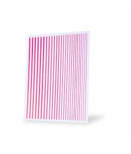 strisce adesive nail art unghie rosa neon