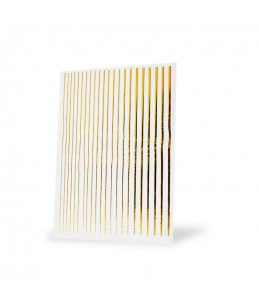 strisce adesive unghie oro nail art carnevale