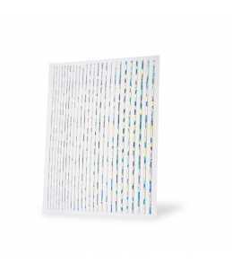 strisce adesive per nail art colore argento brillante