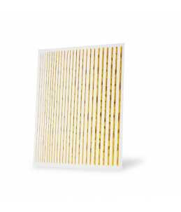 strisce adesive unghie colore oro brillante per nail art