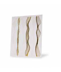 strisce adesive onde per nail art oro e argento