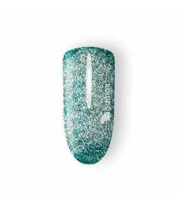 gel unghie verde glitter