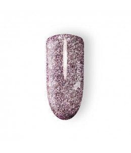 gel colour unghie rosa glitter