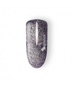 gel uv colour unghie viola glitter
