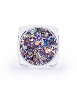 paillettes decorazione unghie lilla