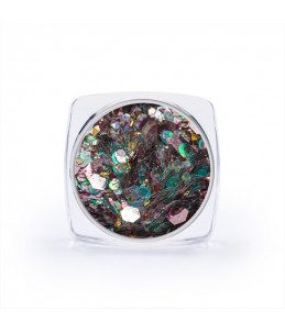 paillettes multicolore per nail art