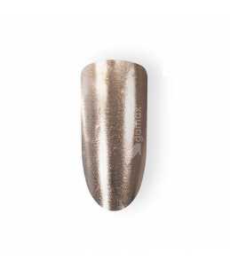 tip unghie effetto specchio beige cromato