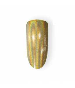 unghie effetto specchio oro cromato