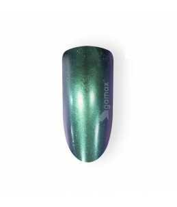 tip unghie verdi effetto cromato