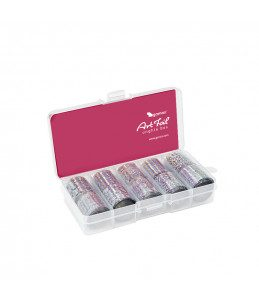 art foil box scatola foil unghie argento