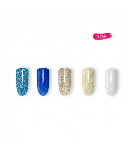 kit gel colour unghie glitter
