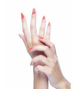 manicure rosa salmone unghie