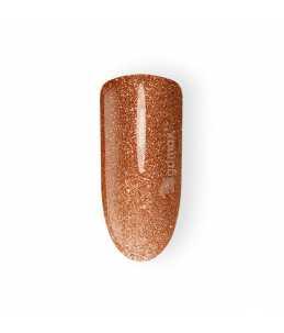 smalto semipermanente unghie dorato glitter