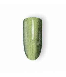 semipermanente unghie verde effetto camaleonte metallizzato