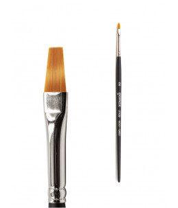 pennello in acrilico punta dritta misura 2 per unghie
