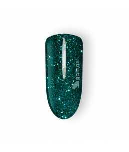 unghie gel carnevale verde glitter sax