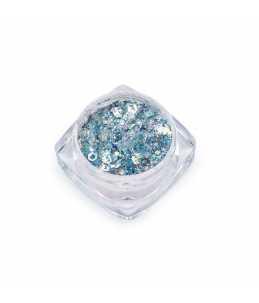 Paillettes per unghie azzurro barattolo