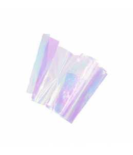 art foil unghie effetto vetro colore viola cangiante